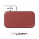 Badge rectangle 55 x 30 mm